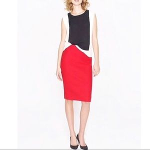 J. CREW RED WOOL No. 2 PENCIL SKIRT SIZE 8